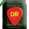 Струны для акустической гитары DR DSA-10 DRAGON SKIN (10-48) Lite