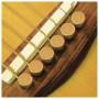 Шпильки для гитары, набор D'ANDREA Tone Pins Solid Brass Flat Bridge Pins TP1B