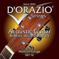 Струны для акустической гитары D'ORAZIO SET-12 SS