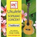 Струны для укулеле ROYAL CLASSICS UKSC40 Soprano-Concert