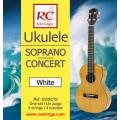 Струны для укулеле ROYAL CLASSICS UWSC70 Ukelele White Soprano-Concert