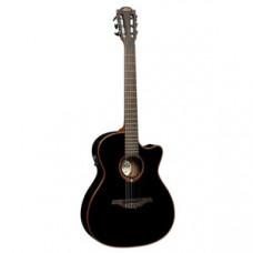 Гитара классическая со звукоснимателем LAG Tramontane TN100A14CE-BLK